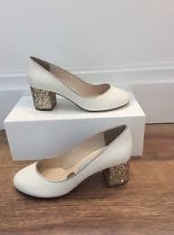 wedding shoes block heel mills etta gold low block heel wedding shoes size 4 ebay