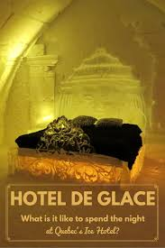 an overnight stay at hotel de glace the ice hotel canada