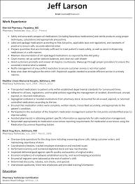 Sample Resume Objectives For Maintenance Mechanic by Resume Pharmacy Technician Resume Samples