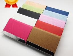 Embossed Business Card Holder Wholesale Customized Leather Elegant Business Card Holder