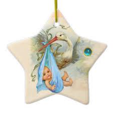 vintage baby boy tree decorations ornaments zazzle co uk