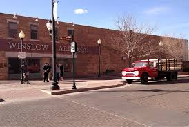 a flatbed ford is on the corner in winslow arizona trailer talk