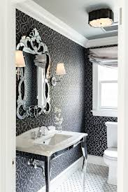 Unique Wall Mirrors by Bathroom Black And White Bathroom With Unique Wall Mirror Also