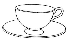 Cup Coloring Pages cup and saucer coloring page free printable coloring pages