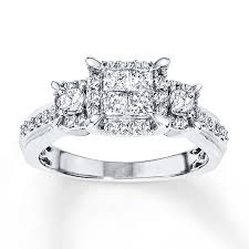 www jared engagement rings jared engagement ring 3 4 ct tw princess cut 14k white gold