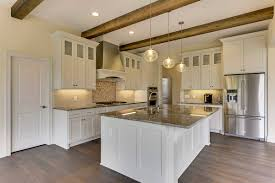 white kitchen cabinets with wood beams kitchens gonyea custom homes