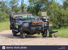 military land cruiser toyota land cruiser safari vehicle parked for a tea break at the