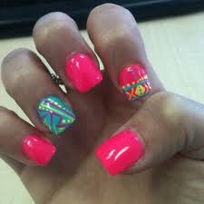 best 20 neon aztec nails ideas on pinterest u2014no signup required