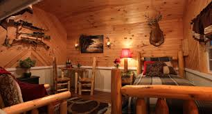 a lovely interior of a small cabin from sheds unlimited of