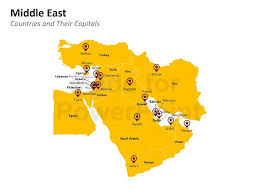 middle east map ppt middle east map editable powerpoint slide