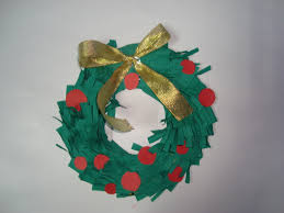 christmas paper wreaths craft for kids easy to make christmas