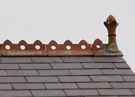 ridge tiles in and edwardian houses bricks brass