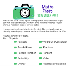 7b middle maths photo scavenger hunt mathspig blog