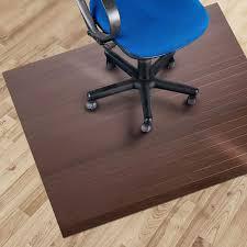 Chair Mats For Laminate Floors Etm Bamboo Office Chair Mat 110 X 130 Cm 2 U00273