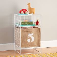 white on the grid 2 cube nightstand the land of nod