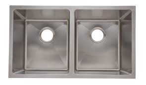 18 10 stainless steel kitchen sinks as351 33 x 18 x 10 10 16g double bowl undermount legend