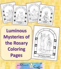 Free Printable Mysteries Of The Rosary Coloring Pages Mystery Coloring Pages