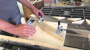 cutting angles on a table saw 60 angle table saw jig youtube