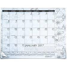 desk pad calendar 2017 hod187 house of doolittle 2017 doodle coloring desk pad calendar