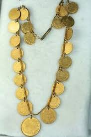 Ottoman Empire Gold Coins Ottoman Empire Antique 22k Turkish Gold Coin Necklace 57 4 Grams