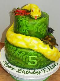 plumeria cake studio reptile snake cake