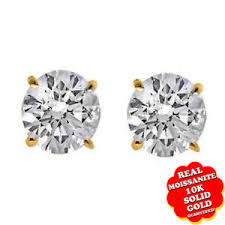 moissanite earrings 1 ct moissanite earrings ebay