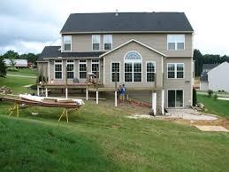 walkout basement walk out basement deck designs house plans 89533