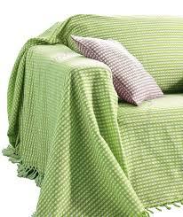 jeté canapé pas cher plaid jeté canapé jacquard style vichy vert t270x250cm acheter