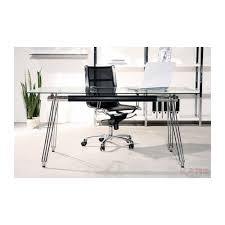 bureau verre design bureau en verre officia 160x80 cm kare design