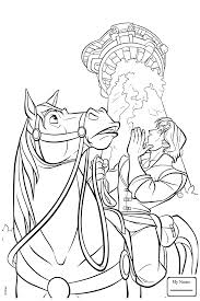cartoons tangled rapunzel sweeping tangled coloring pages for kids