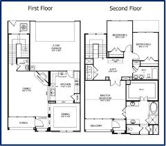 2 story house blueprints basic design house plans simple floor plan small modern two level