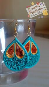 paper earrings paper quilled earrings blissful stuff