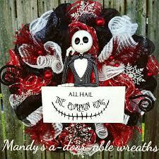 Halloween Wreaths Pinterest by Nightmare Before Christmas Wreath Jack Skellington Christmas