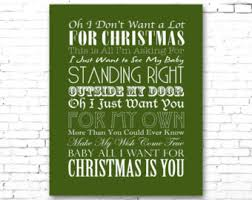 mariah carey all i want for christmas is you printable