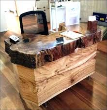 Modern Rustic Desk Rustic Wood Office Desk Hutae Me