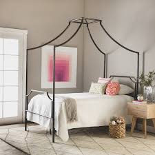 Twin Sized Bed Bailey Twin Size Metal Canopy Bed Free Shipping Today