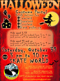 halloween party for kids at skate world boquete cash prizes