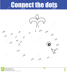 connect the dots by numbers educational children game kids