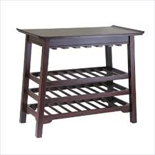 wine rack console table round bar serving cart racks circle brown