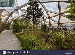 Botanical Garden Station by The Canary Wharf Roof Garden And Tropical Garden Above The New