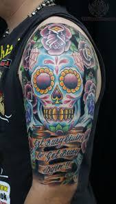 sugar skull half sleeve