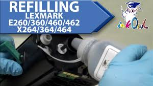 how to refill lexmark e260 e360 e460 e462 x264 x364 x464