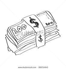 sketch threes money stack stock vector 304964351 shutterstock