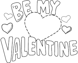 be my valentine coloring page printable valentine coloring pages