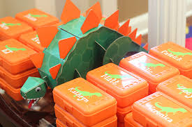 dinosaur party favors dinosaur party benjamin is 3 chickabug