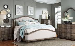 King Upholstered Platform Bed Standard Furniture Parliament Vintage Dusty Brown King Upholstered