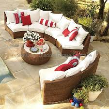 Curved Modular Outdoor Seating by Furniture Charming Red Curved Sectional Sofa With Brown Furry Rug
