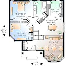 5 bedroom house plans 1 story european house plan 2 bedrooms 1 bath 1001 sq ft plan 5 602