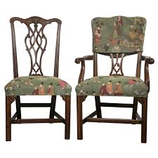 set of eight chippendale dining chairs by baker at 1stdibs