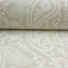 Paisley Upholstery Fabric Uk A Detailed Embroidered Paisley On Cream Background